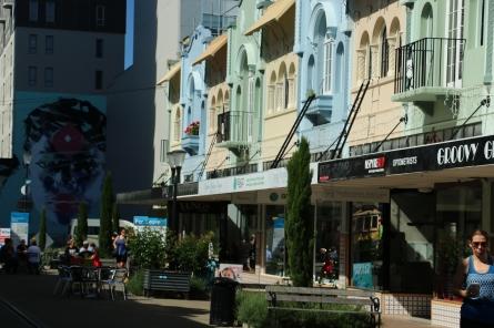 kleine Seitenstraße im Zentrum von Christchurch