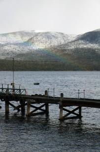 Der Morgen nach dem Schnee - aber mit Regenbogen!