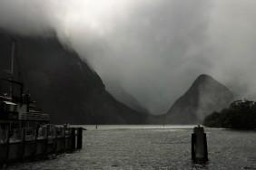 Am Milford Sound - gleich geht es los