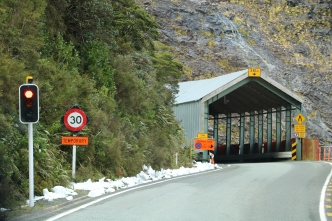 Der Eingang des Tunnels
